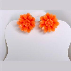 ♡ 2 for 20$ ♡ Orange Flower Earrings